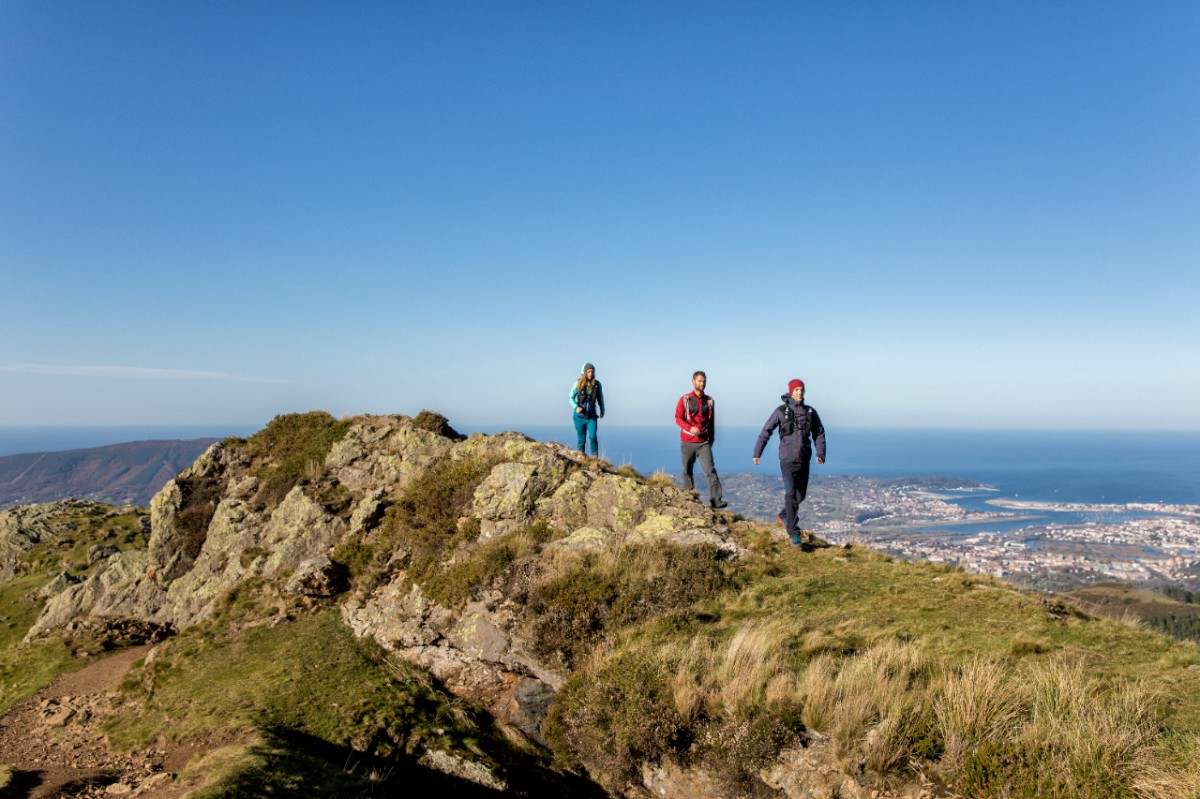 Walking along a ridge