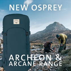 Shop our Osprey Archeon and Arcane backpack range