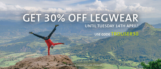 Get 30% off legwear when you use code TROUSER30 at the checkout
