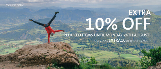 Get 10% extra off reduced items when you use code EXTRA10 at the checkout