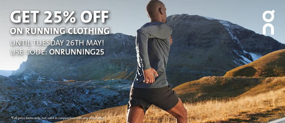 25% off On Running clothing with code ONRUNNING25