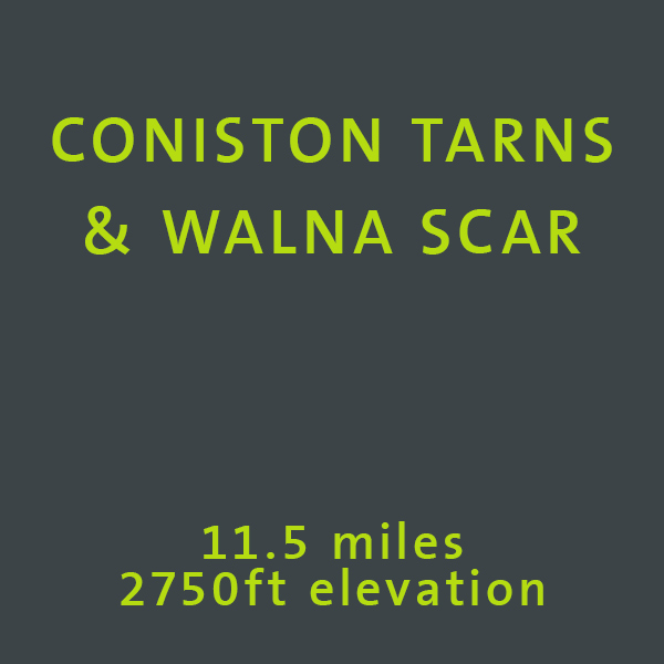 Download our Coniston Tarns walking route here
