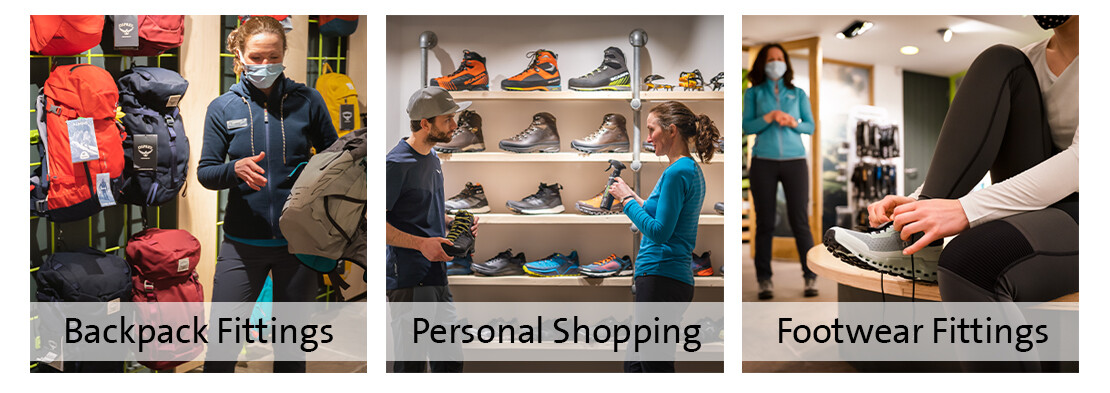 Book personal shopping, or a boot or backpack fitting appointment at The Epicentre