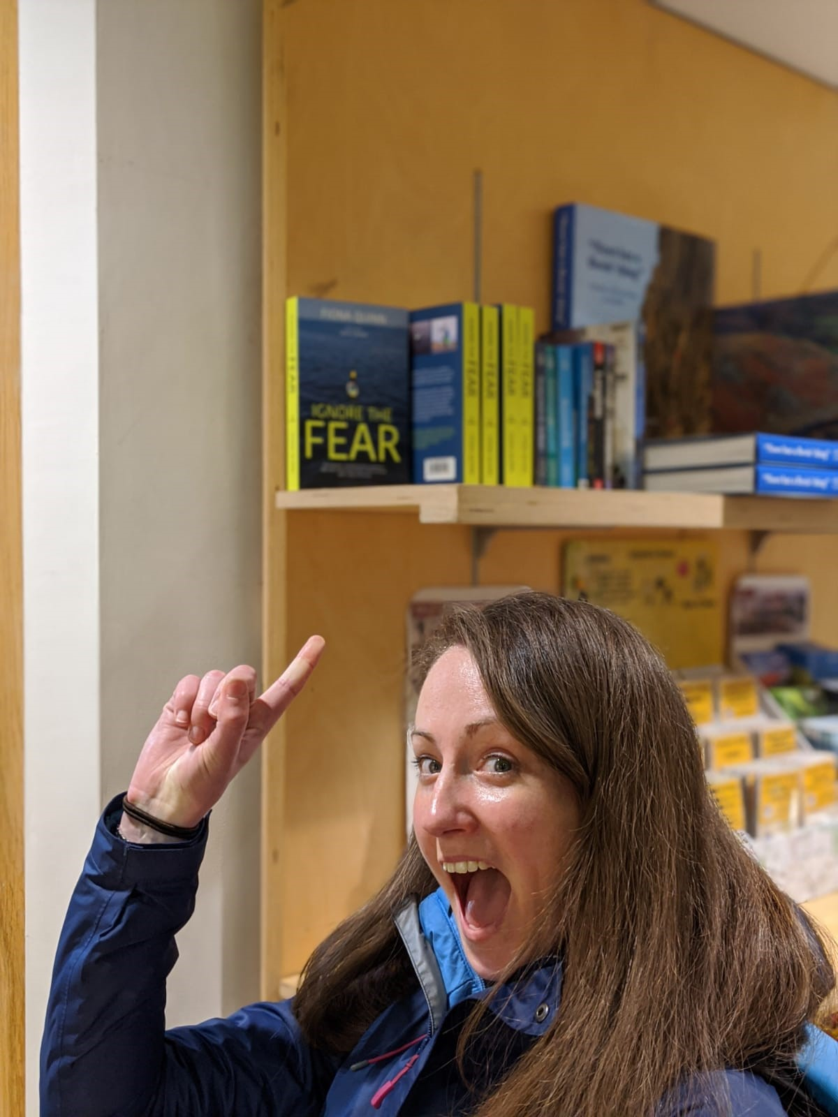 Fiona Quinn with her book 'Ignore the fear'