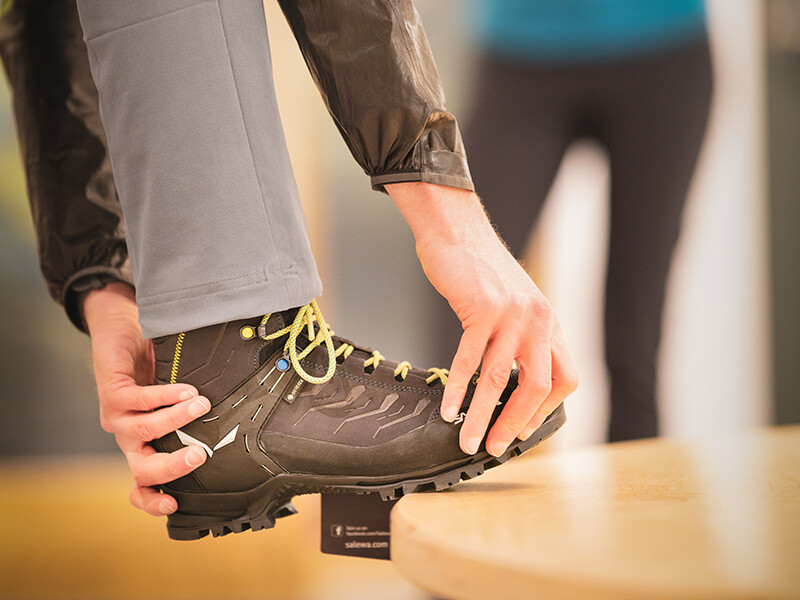 Fitting a Salewa walking boot