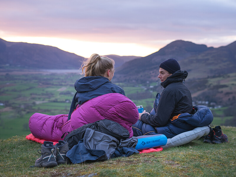 Wild camping with views over Keswick