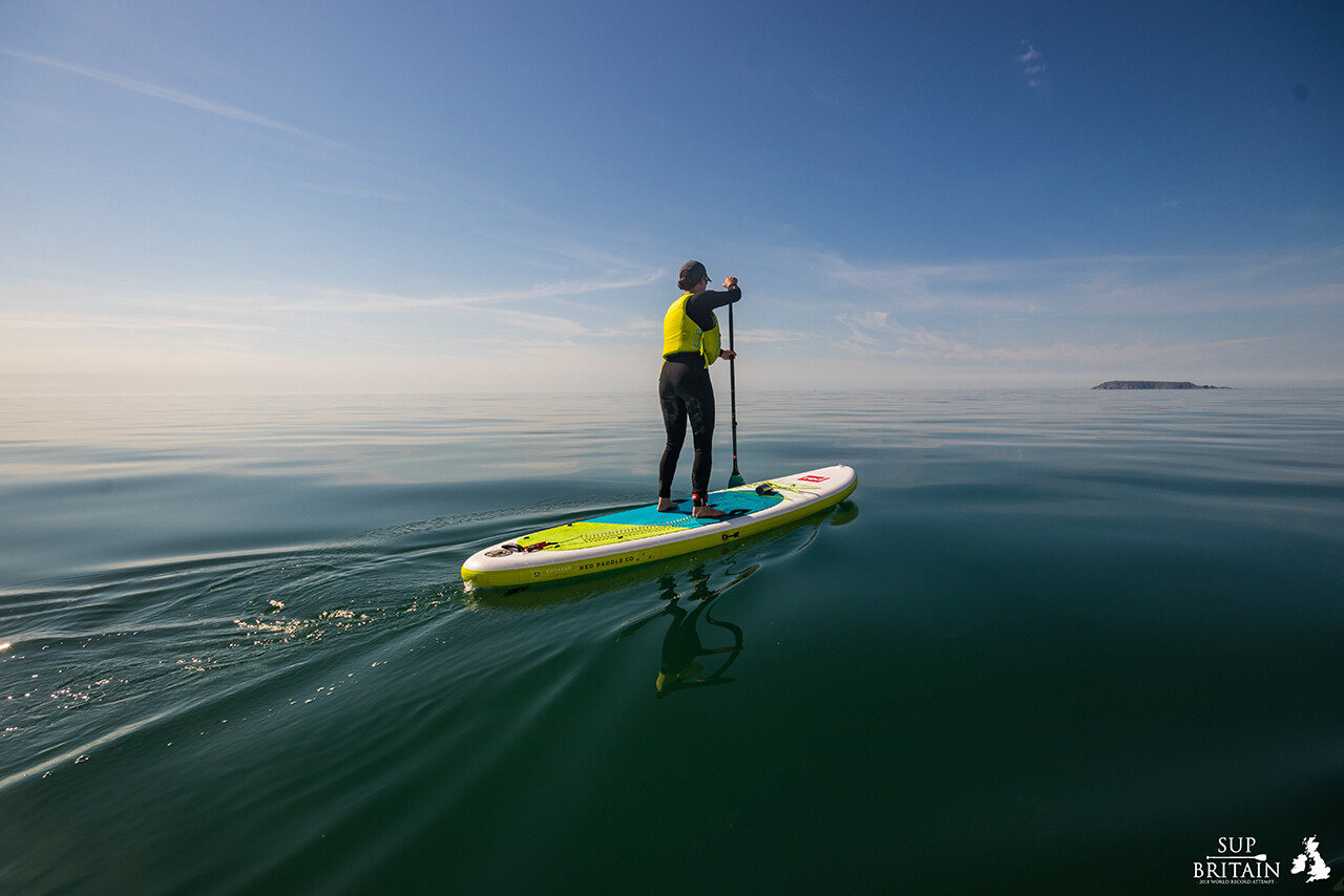Paddle boarding across the Irish Sea