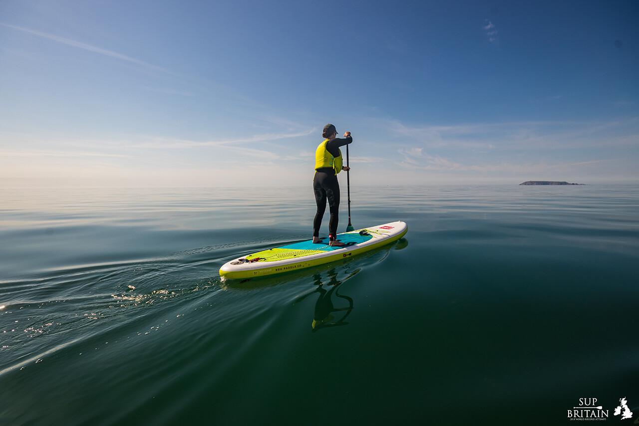 Paddle boarding across the Irish Sea