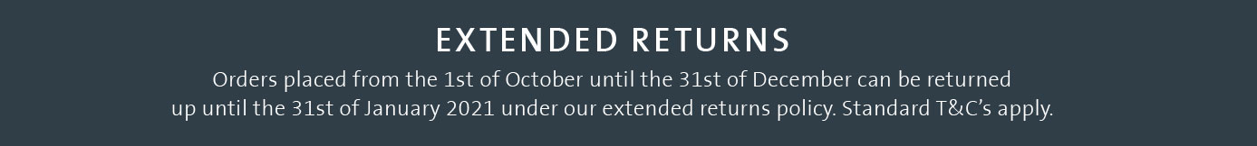 Extended Christmas returns for all orders after the 1st of November