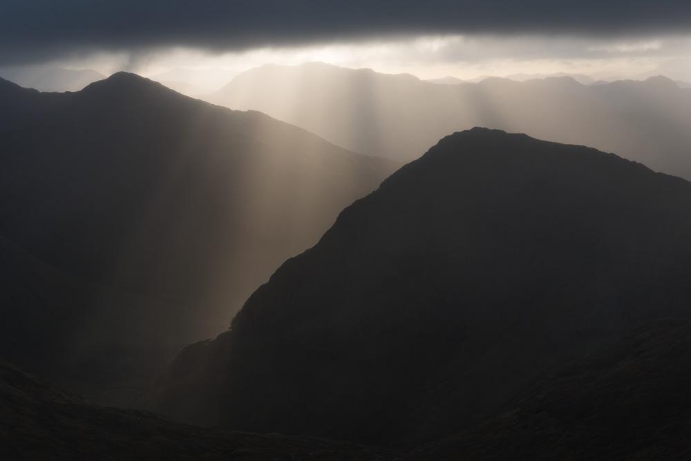 Croit Bheinn and the Ardgour hills from Druim Fiaclach