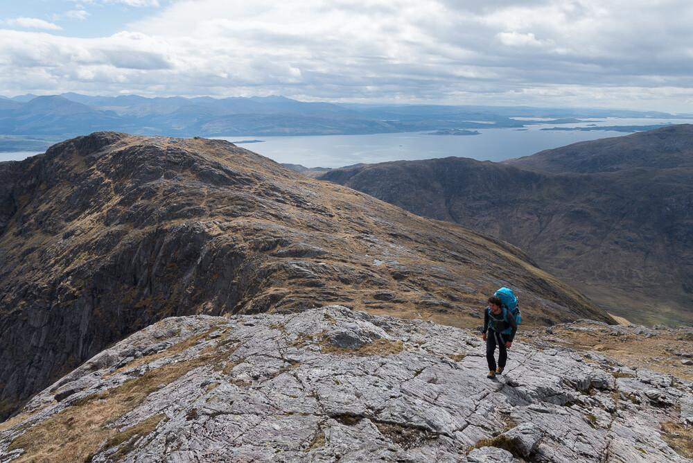 Approaching the summit of Garbh Bheinn