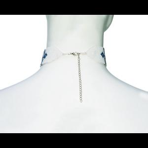 Mayalu Endless Knot Choker Blue Tara