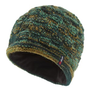 Sherpa Basket Weave Rimjhim Hat in Rathna green