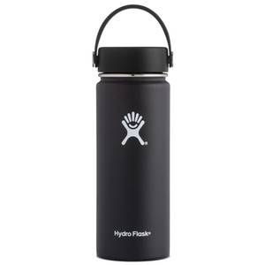 Hydro Flask 18oz Wide Mouth w/Flex Cap in Black