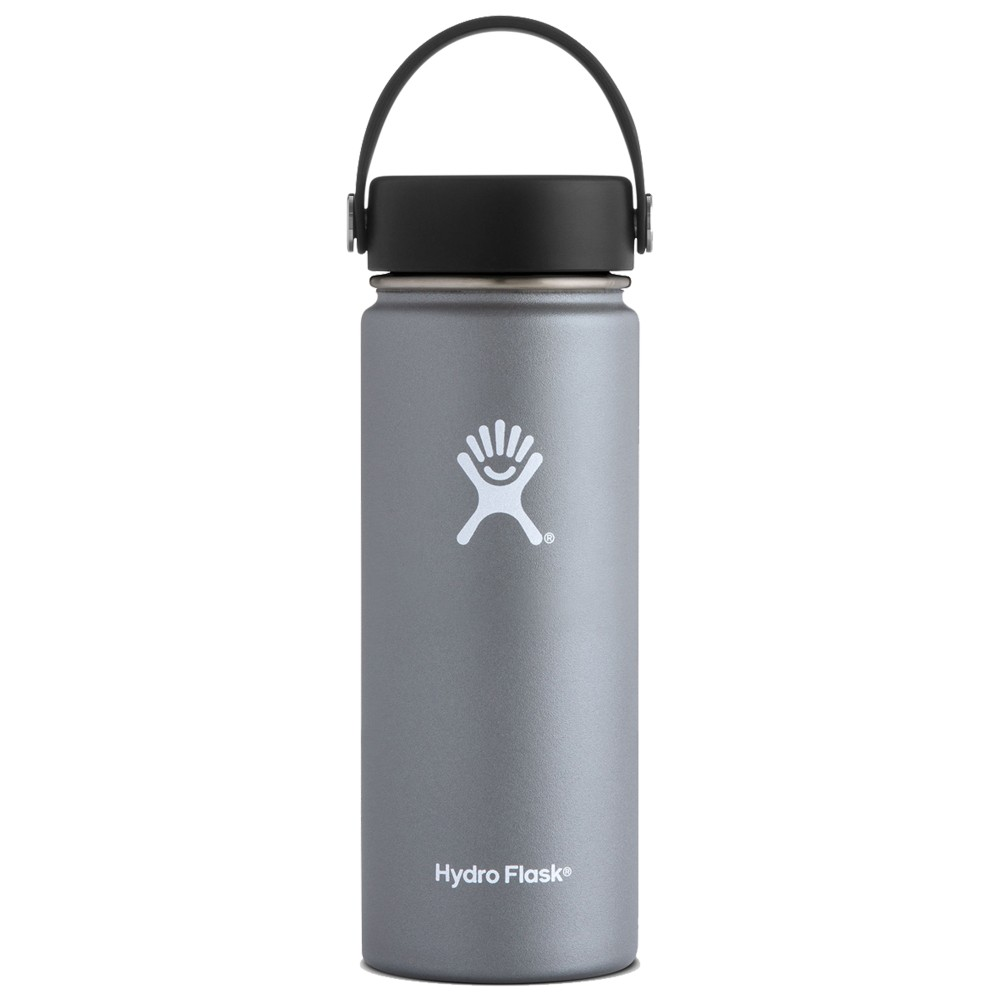 Hydro Flask 18oz Wide Mouth w/Flex Cap Graphite