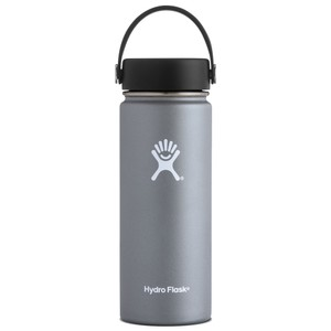 Hydro Flask 18oz Wide Mouth w/Flex Cap in Graphite