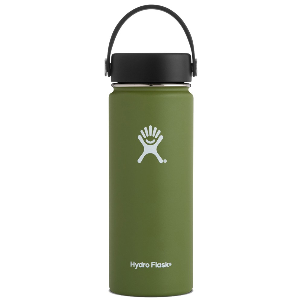 Hydro Flask 18oz Wide Mouth w/Flex Cap Olive