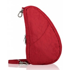 Healthy Back Bag Textured Nylon Large Baglett in Crimson