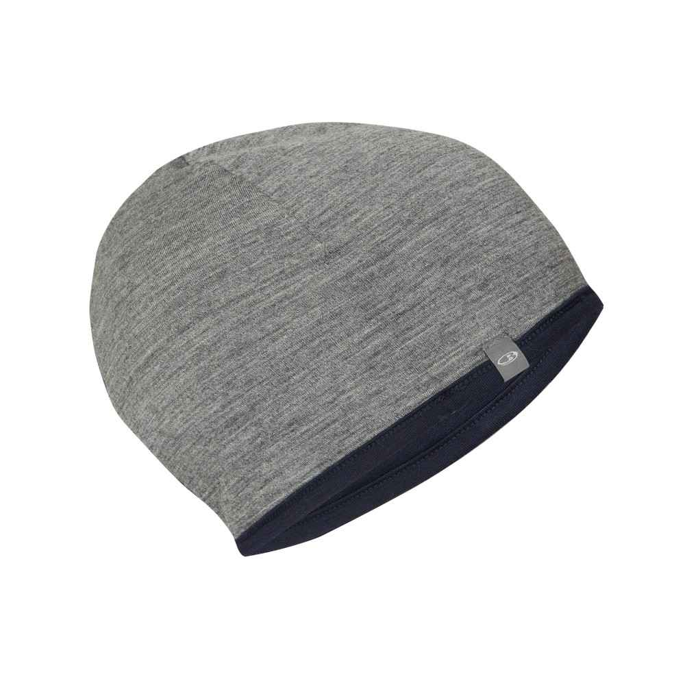 Icebreaker Pocket Hat Midnight Navy/Gritstone Hthr