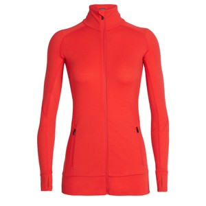 Icebreaker Fluid Zone LS Zip Womens