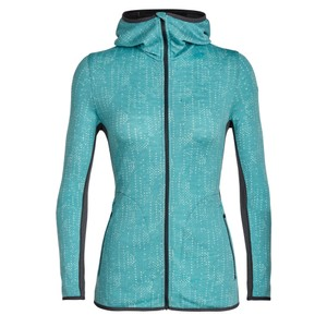 Icebreaker Away LS Zip Hood Showers Womens