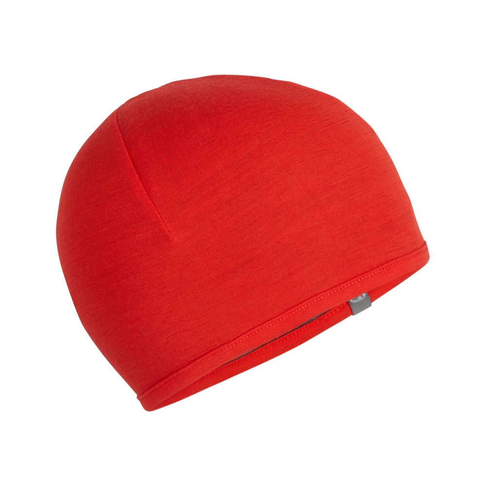 Icebreaker Pocket Hat Chili Red/Gritstone Hthr