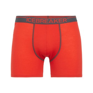 Icebreaker Anatomica Boxers Mens in Chili Red/Monsoon