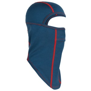 Icebreaker Oasis Balaclava in Prussian Blue/Chili red