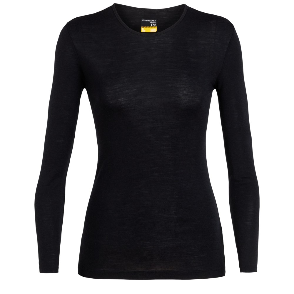 Icebreaker Everyday 175 LS Crewe Womens Black