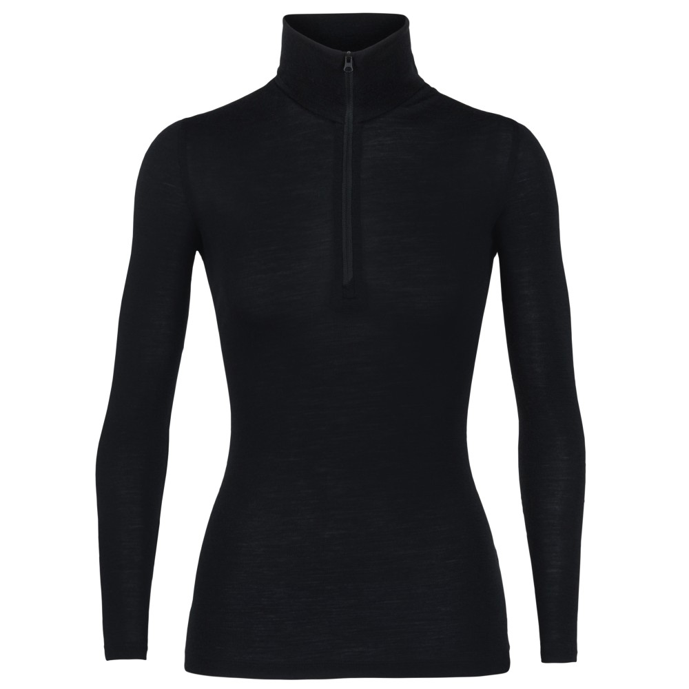 Icebreaker Everyday 175 LS Half Zip Womens Black