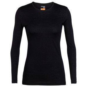 Icebreaker Oasis 200 LS Crewe Womens in Black