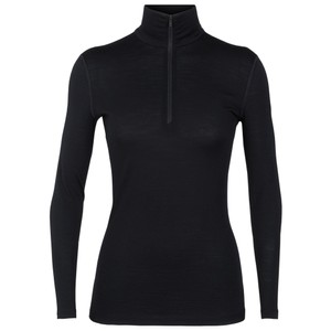 Icebreaker Oasis 200 Half Zip Womens in Black