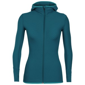 Icebreaker Descender LS Zip Hood Womens