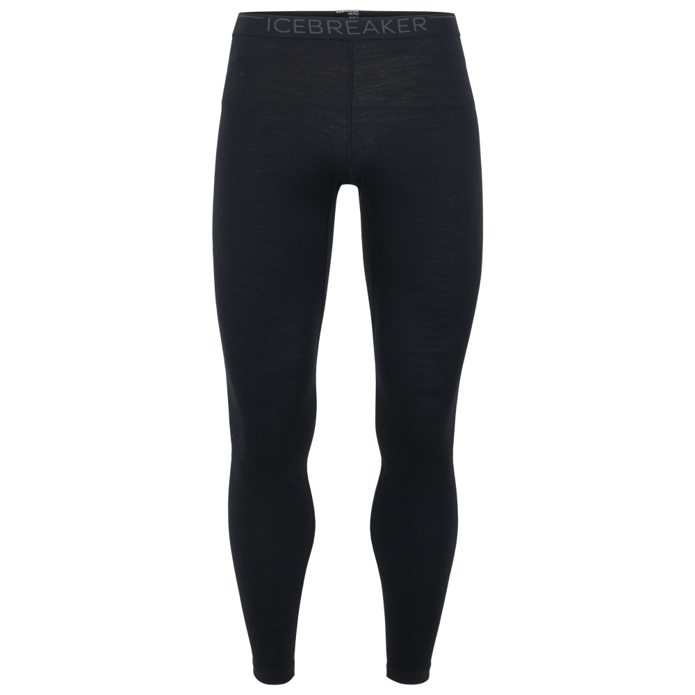 Icebreaker Oasis 200 Leggings Mens Black/Monsoon