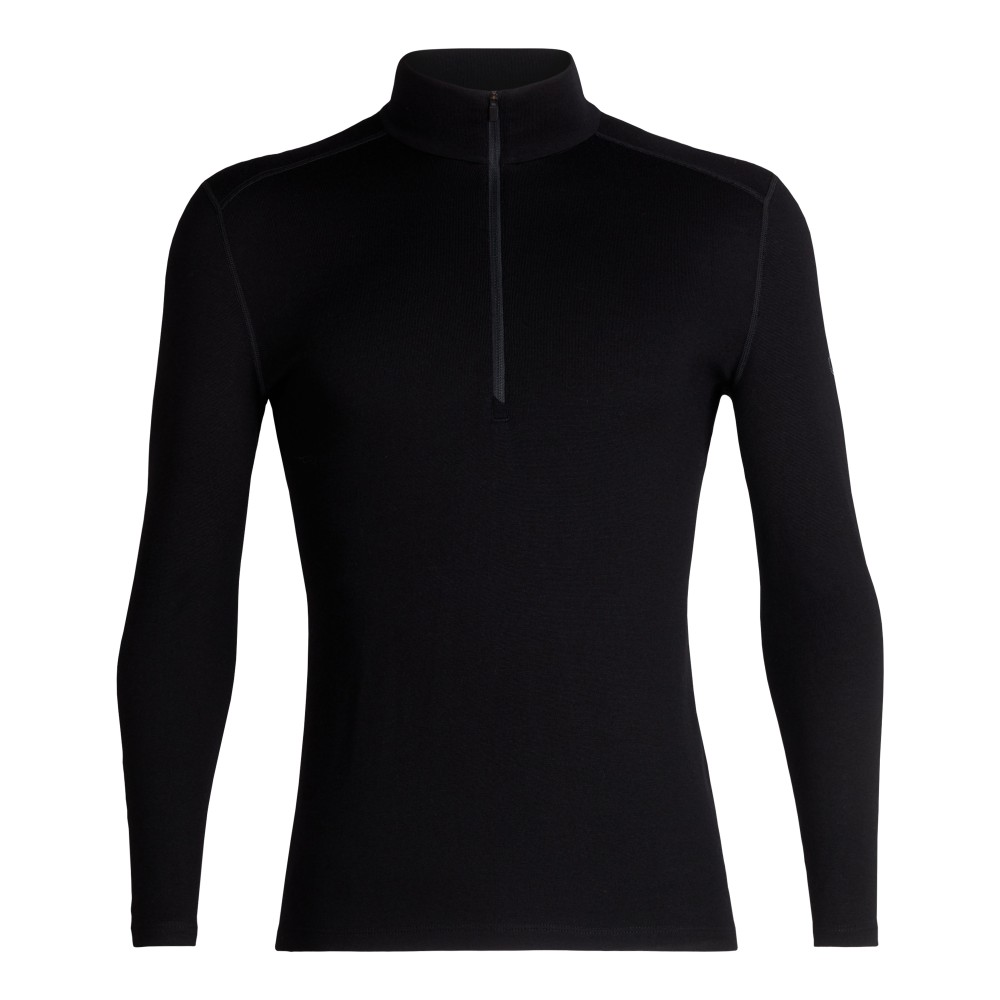 Icebreaker Tech 260 LS Half Zip Mens Black
