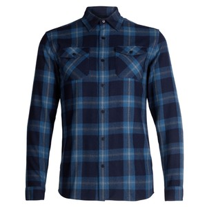 Icebreaker Lodge LS Flannel Shirt Mens