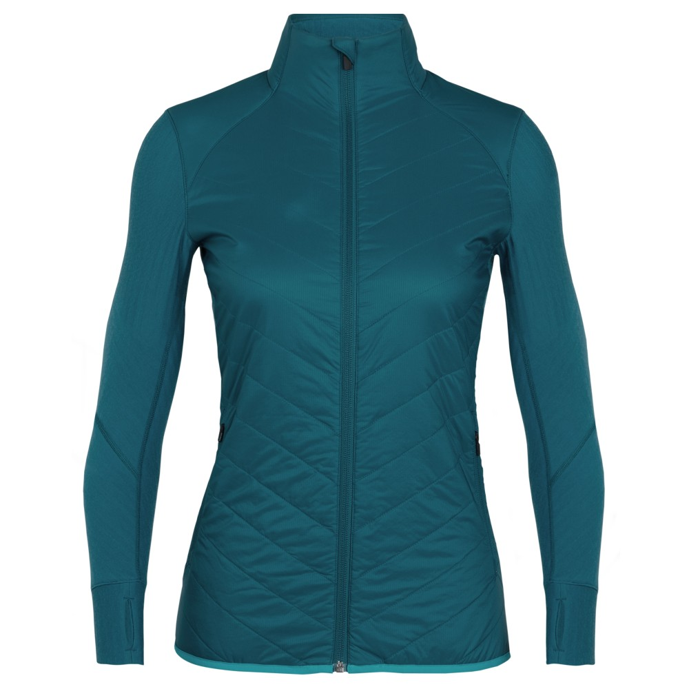 Icebreaker Descender Hybrid Jacket Womens Kingfisher/Arctic Teal
