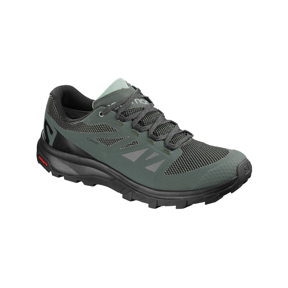 Salomon Outline GTX Mens Urban Chic/Black/Green Milieu
