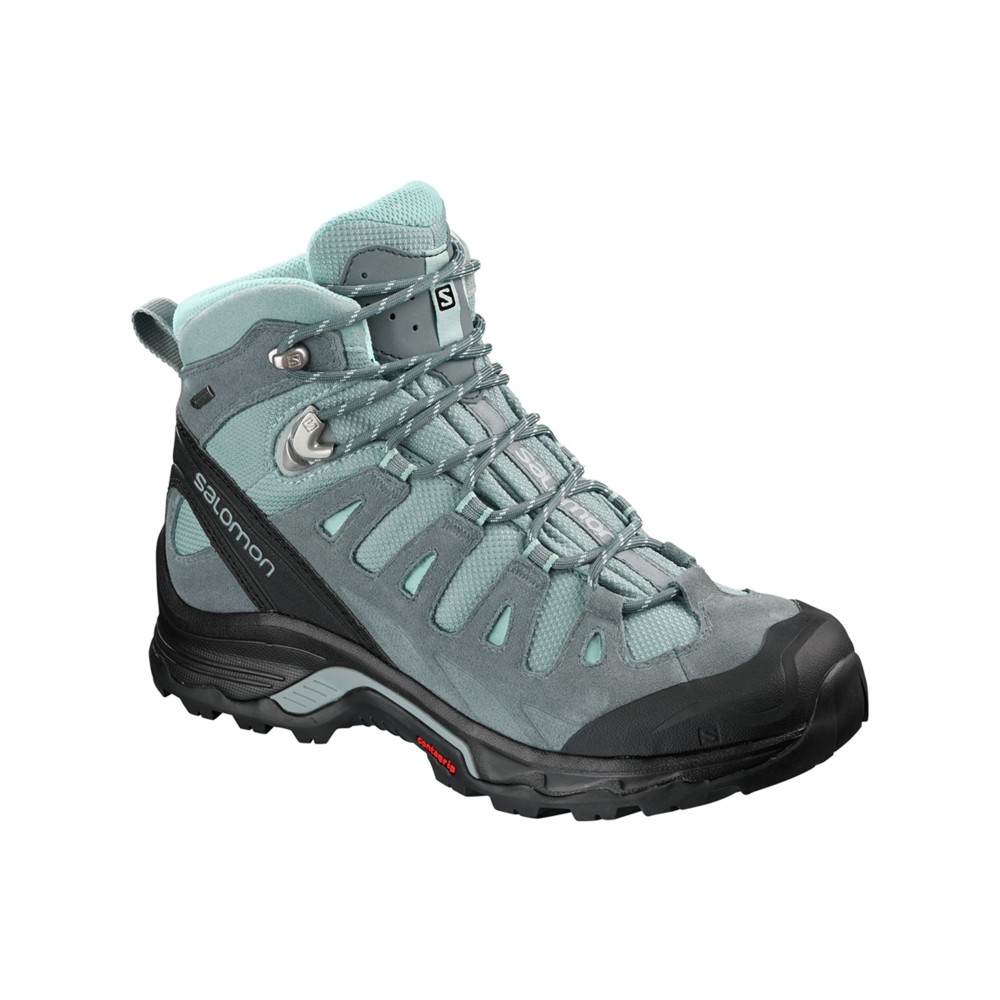 Salomon Quest Prime GTX Womens Lead/Stormy Weather/Eggshell B