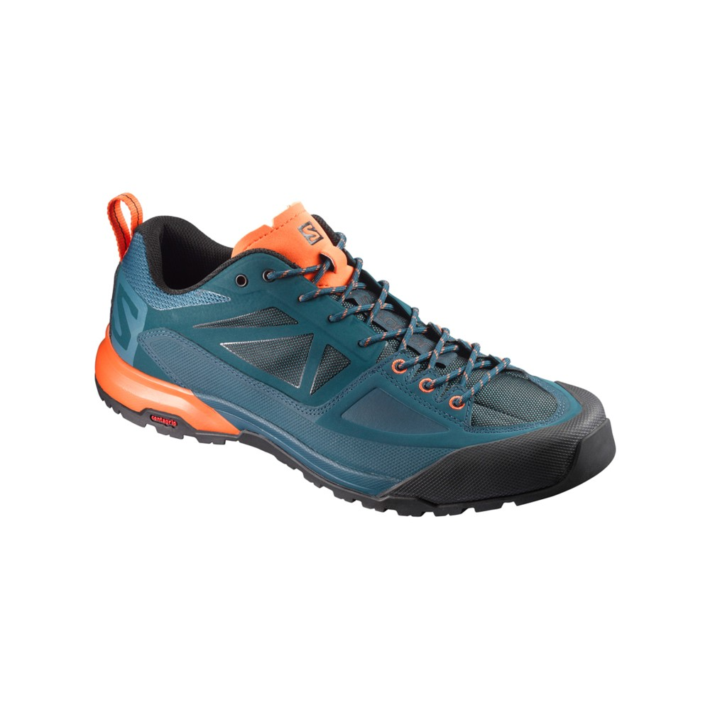 Salomon X Alp Spry Mens Mallard Blue/Ref Pond/Scarlet