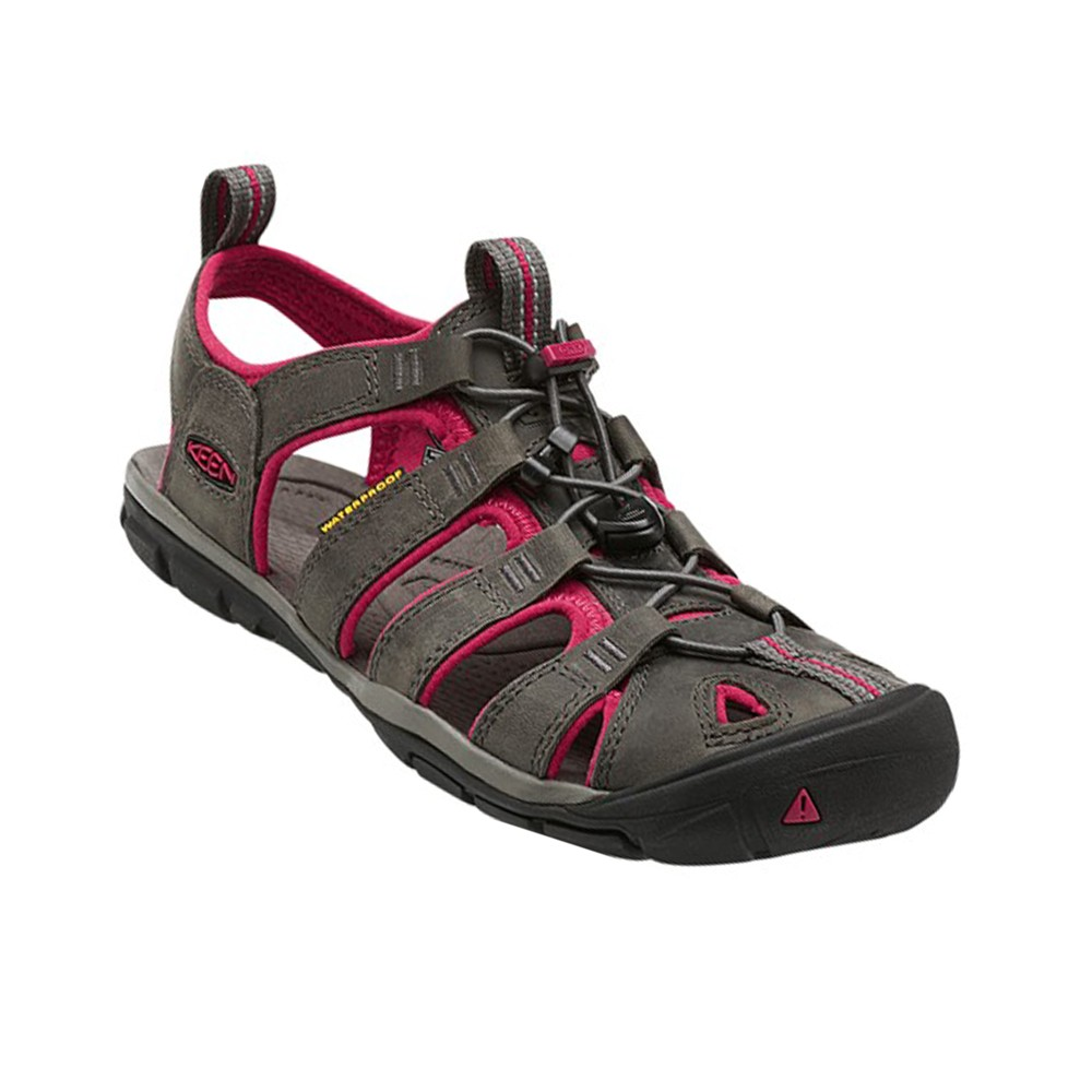 Keen Clearwater CNX Leather Womens Magnet/Sangria