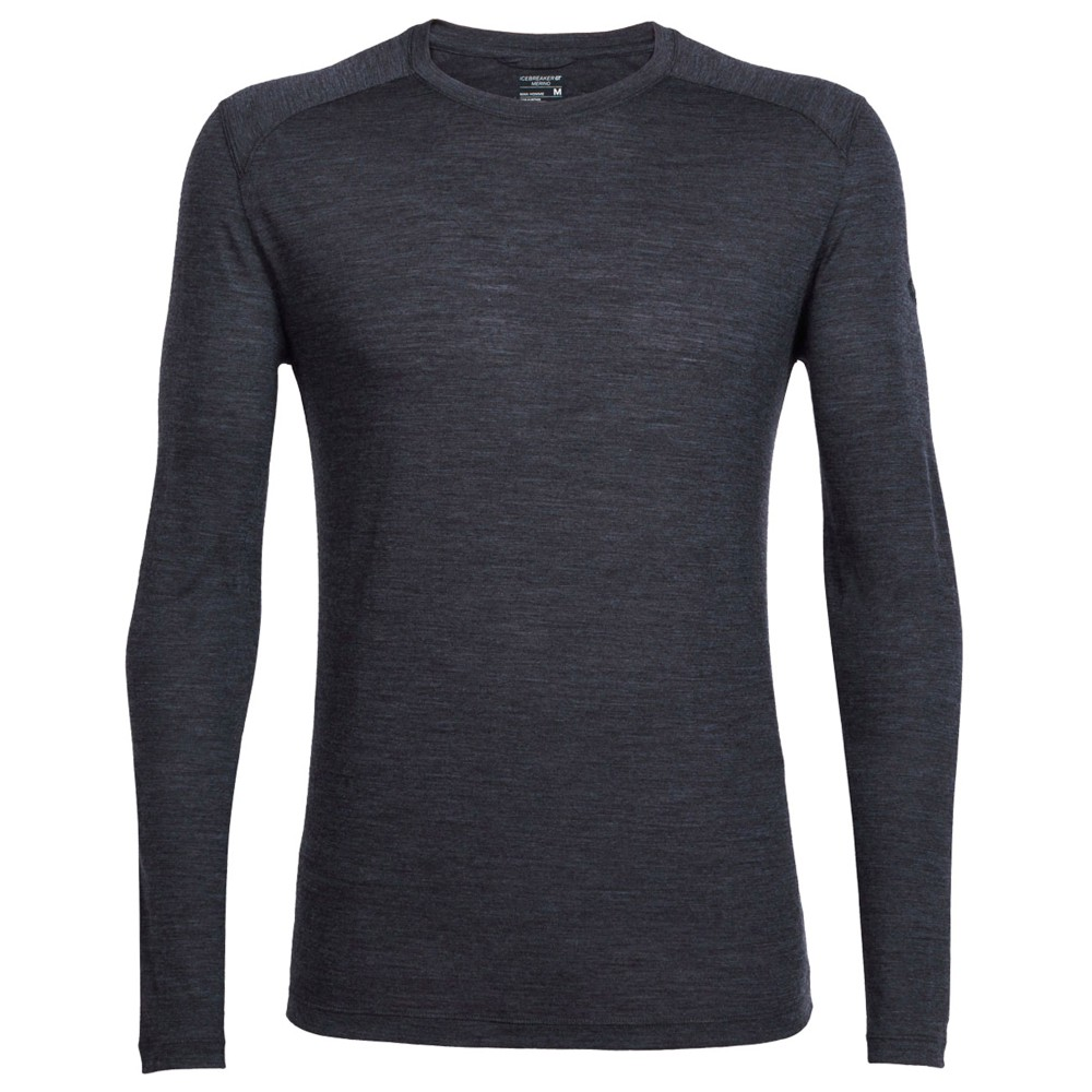 Icebreaker Sphere LS Crewe Mens Black Heather