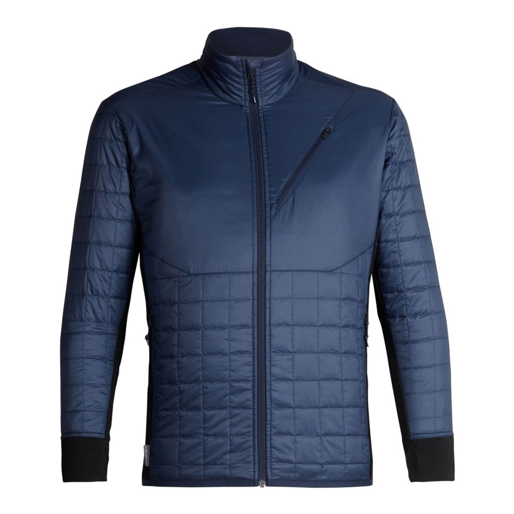 Icebreaker Helix LS Zip Mens Midnight Navy/Black