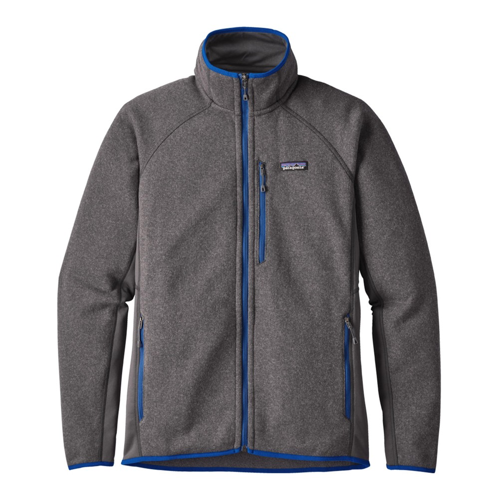 Patagonia Performance Better Sweater Jacket Mens Forge Grey/Viking Blue