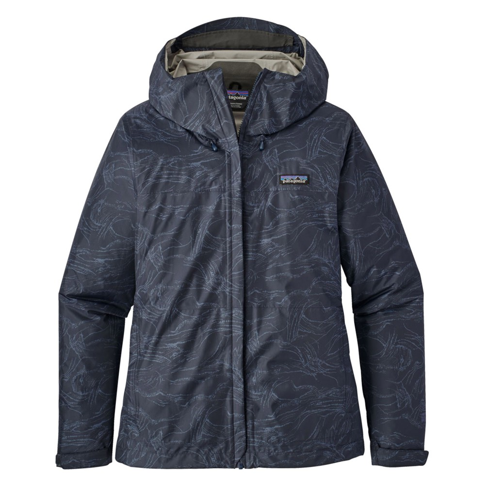 Patagonia Torrentshell Jacket Womens Lamp Lights:Navy Blue