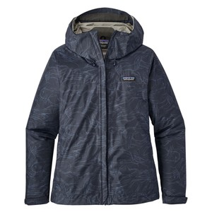 Patagonia Torrentshell Jacket Womens in Lamp Lights:Navy Blue