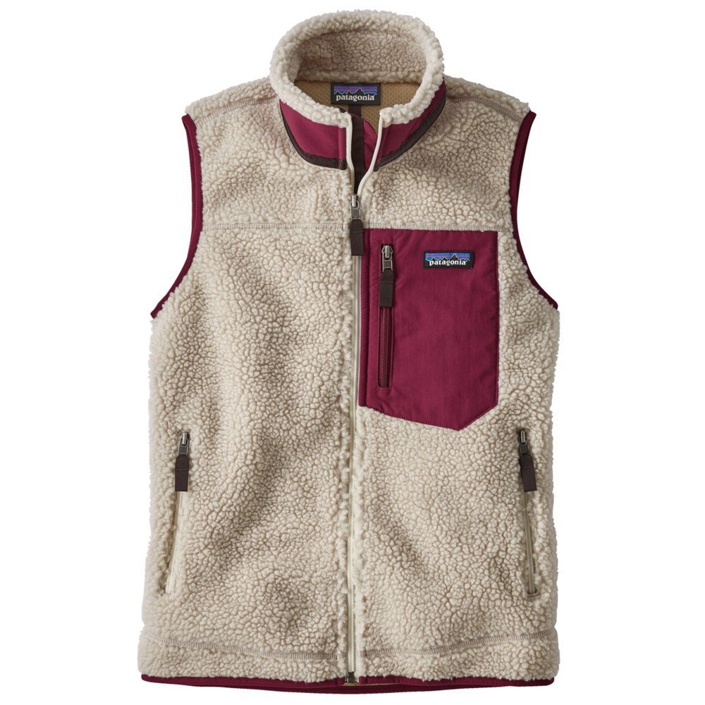 Patagonia Classic Retro-X Vest Womens Natural/Arrow Red
