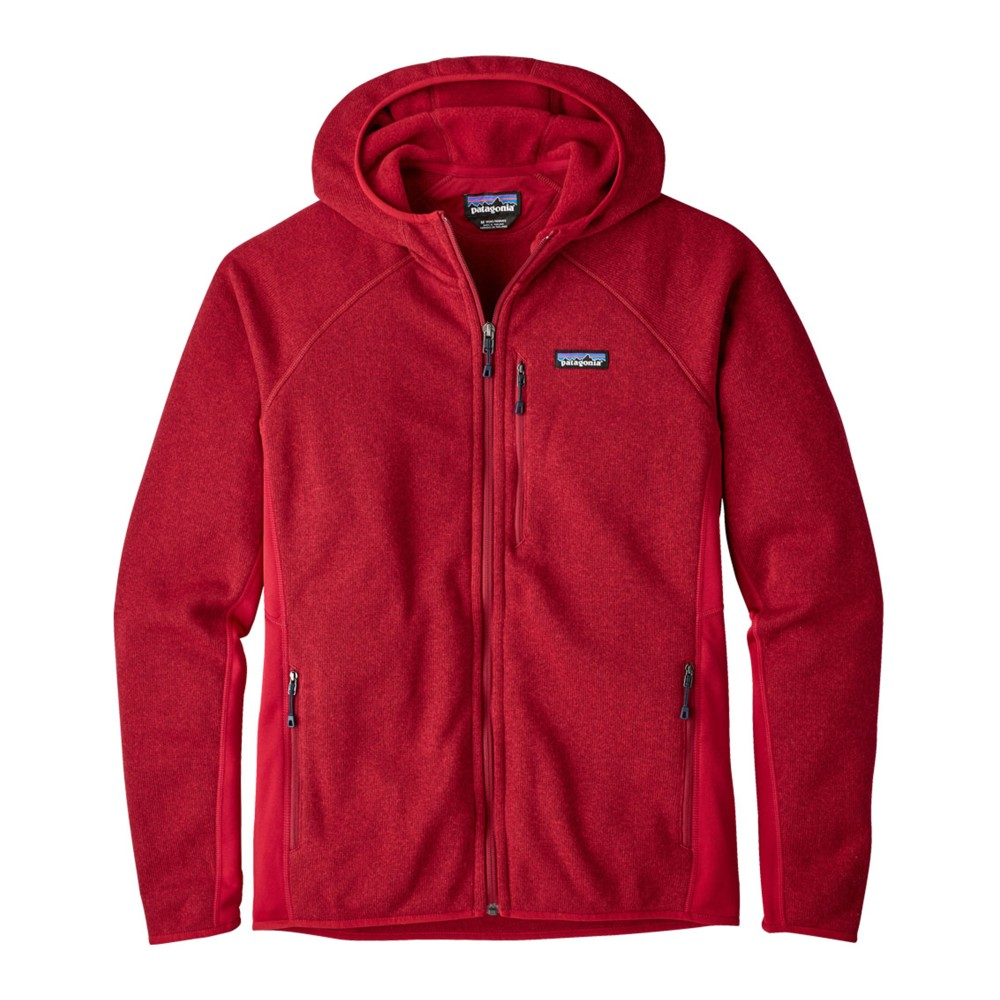 Patagonia Performance Better Sweater Hoody Mens Classic Red