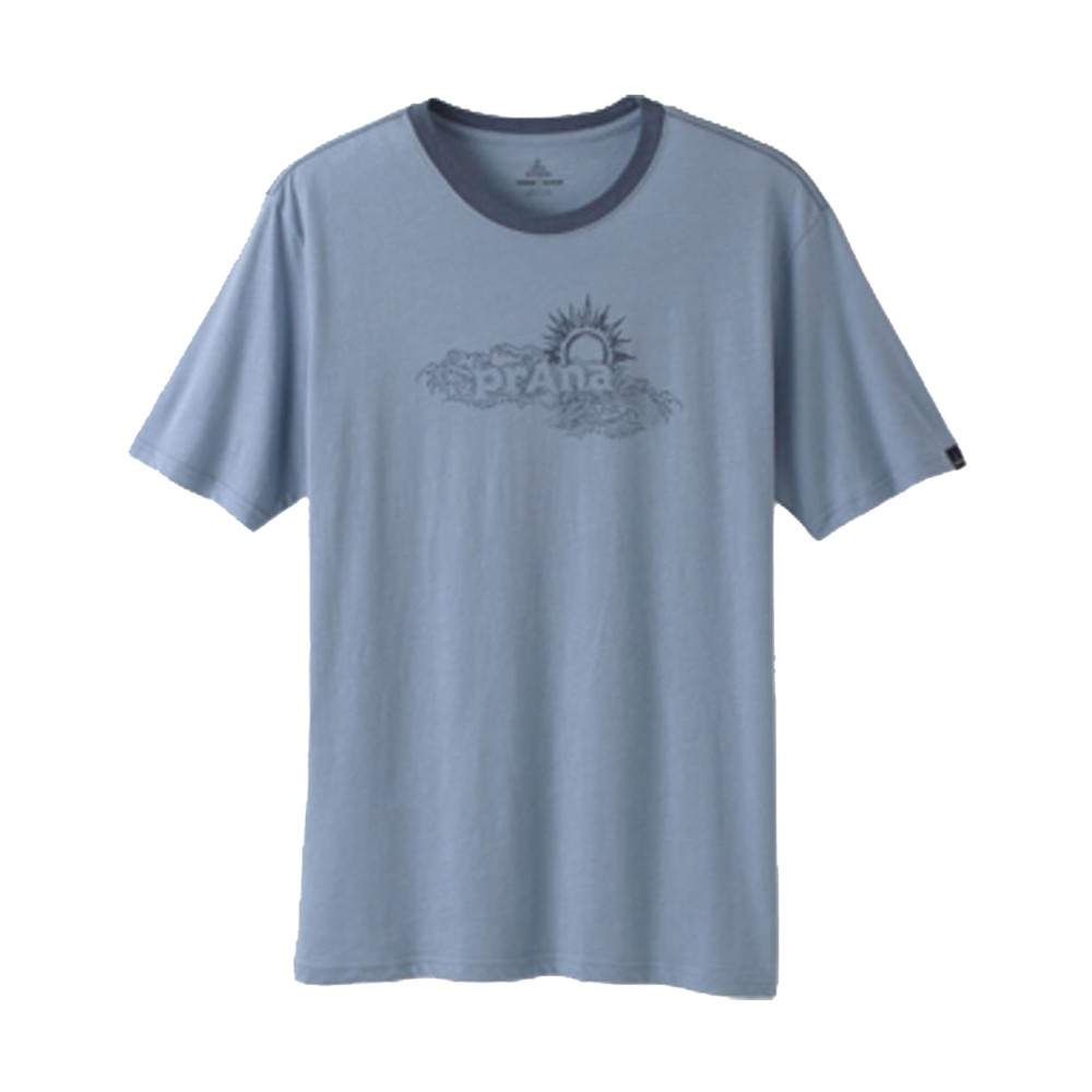 Prana Sun Heathered Tee Mens Blue