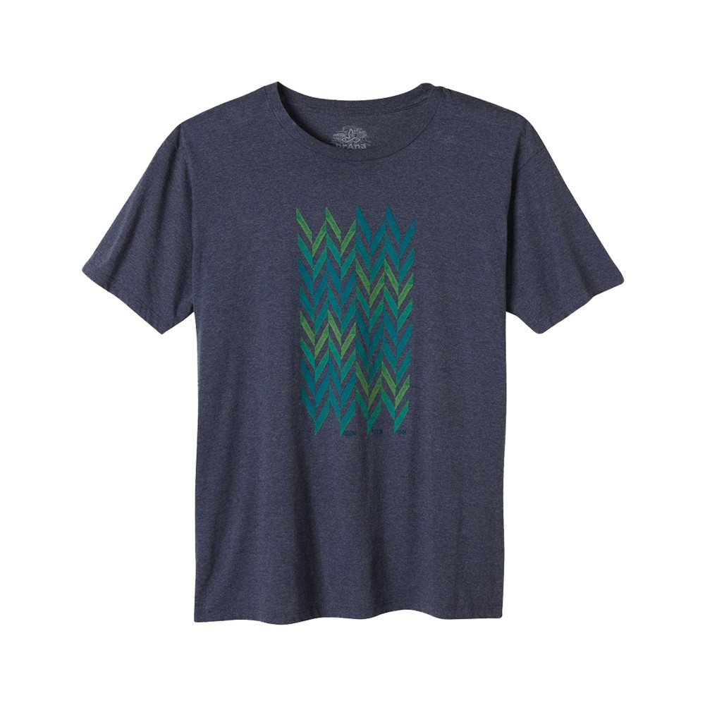 Prana Grow T Mens Navy Heather